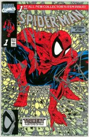 Spider-man #1 Platinum Retail Incentive Variant (1990) McFarlane Marvel comic book